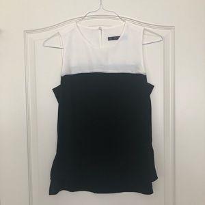 Black and white Zara top